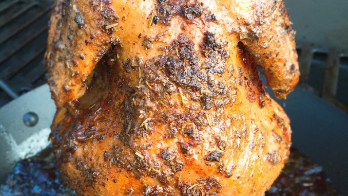 Chicken Gasgrill : Bierhuhn mit knoblauch vom gasgrill futterattacke.de