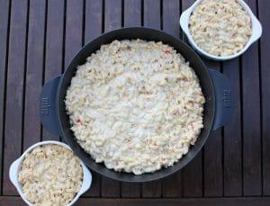 Mac and cheese in der Auflaufform