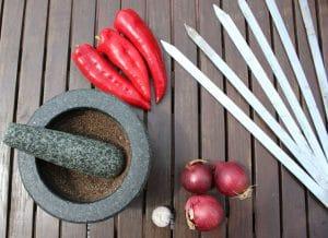 Spieße für das Adana Kebab