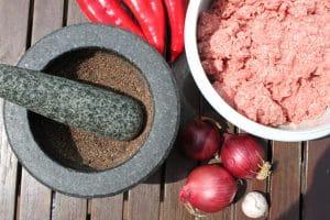 Gewürze für das Adana Kebab