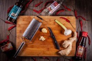 Zutaten für schnelles Kimchi