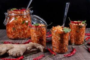 schnelles Kimchi im Glas