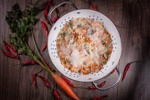 schnelles Kimchi Chinakohl salzen