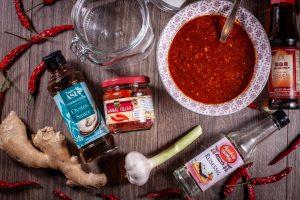 Zutaten für ein Kimchi