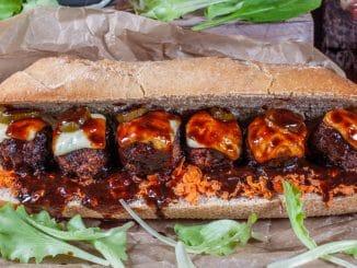 Chorizo-Fleischbällchen Sandwich