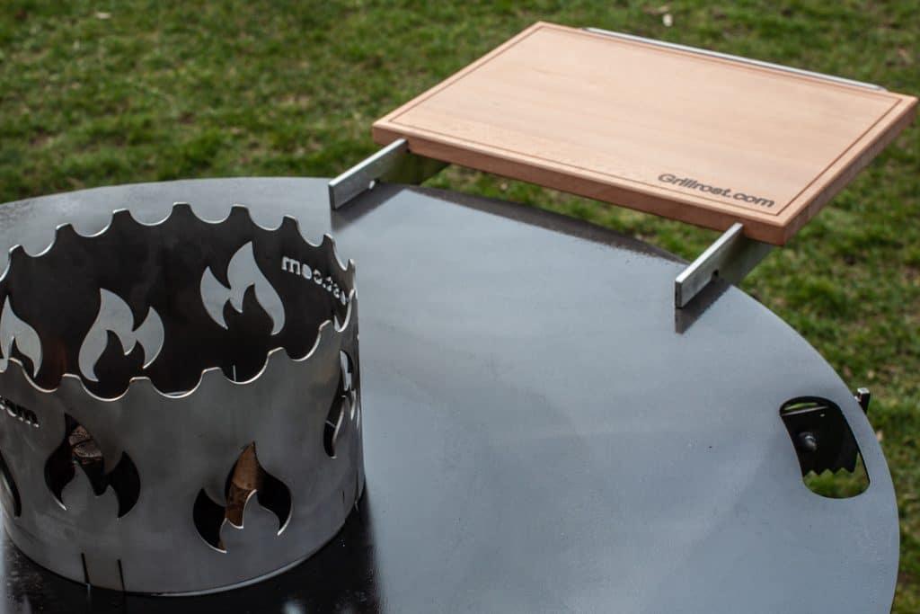 Feuerplatte mit Tisch