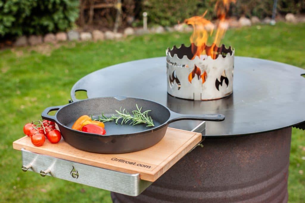 Tisch Feuerplatte