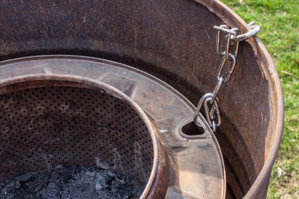 Waschmaschinentrommel Feuertonne