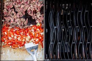 Füllung für Quesadillas auf dem Grill