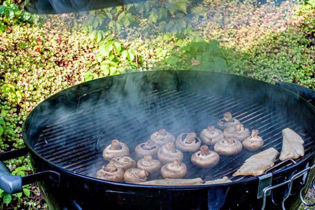 Champignons vom Grill