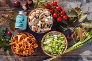 Zutaten für die Pilzpfanne