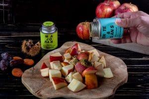 Fuellung für die Gans: Äpfel,Majoran und Beifuß