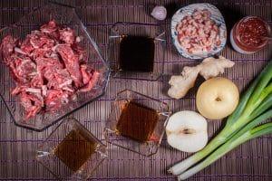 Rib Eye Steak / Entrecote für Bulgogi marinieren