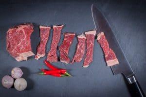 Rib Eye Steak / Entrecote für Bulgogi schneiden