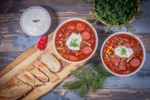 Cabanossi-Suppe