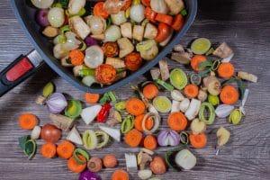Gemüse rösten