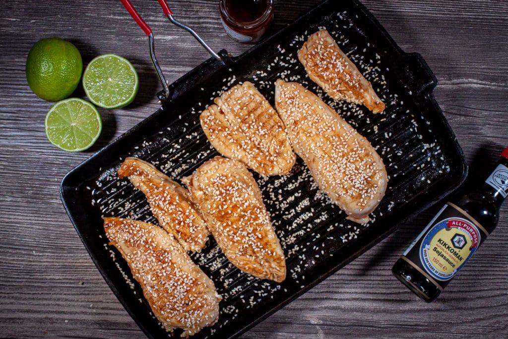 Hähnchenbrust mit Sojasauce und Honig