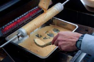 Baumkuchen auf dem Gasgrill