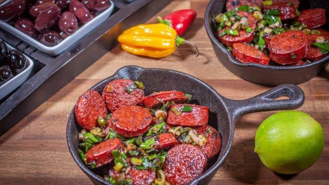 gebratene Chorizos