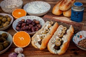 Griechische Hot Dogs Stay Spiced