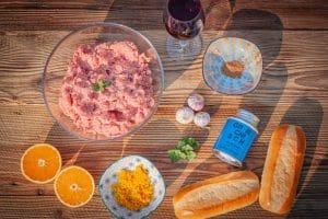 Zutaten für griechische Hot Dogs