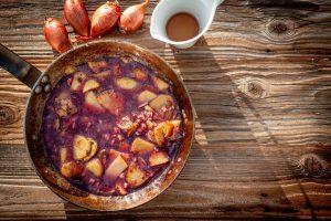 Bratkartoffeln mit Rotwein