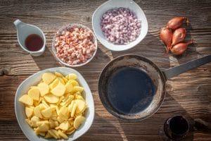 Zutaten für Bratkartoffeln