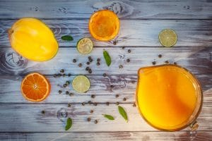 Fruchtsaft pressen