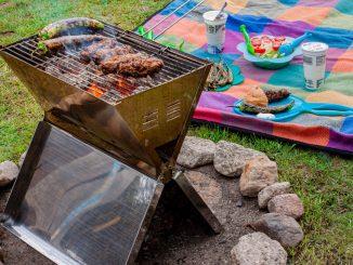 Grillen mit dem CampFeuer Edelstahl Faltgrill Arizona