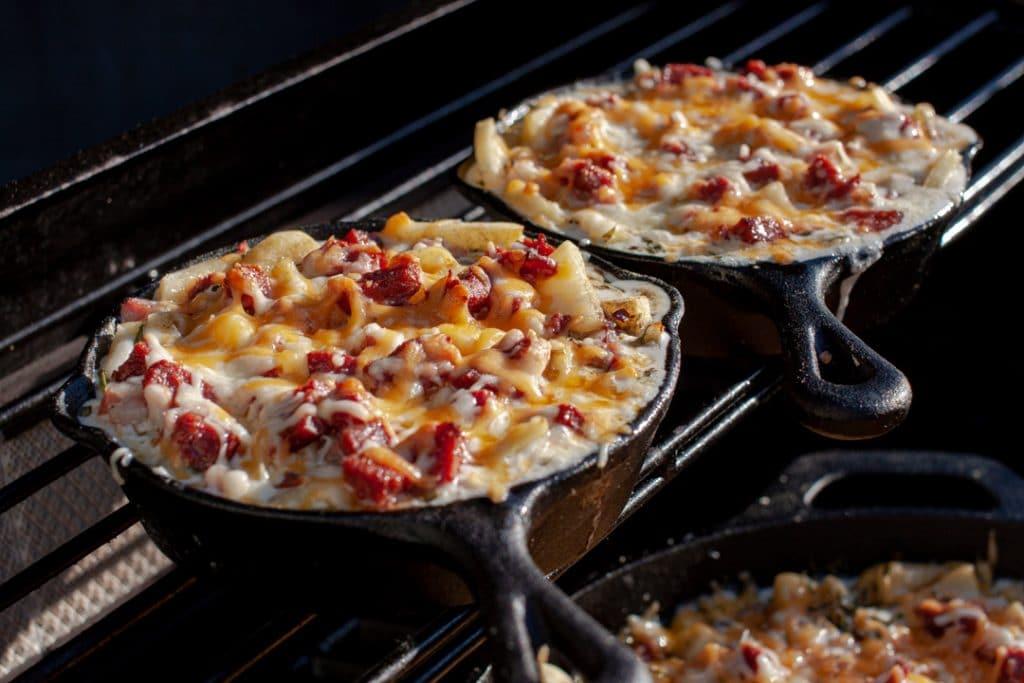 Kartoffelgratin auf dem Grill
