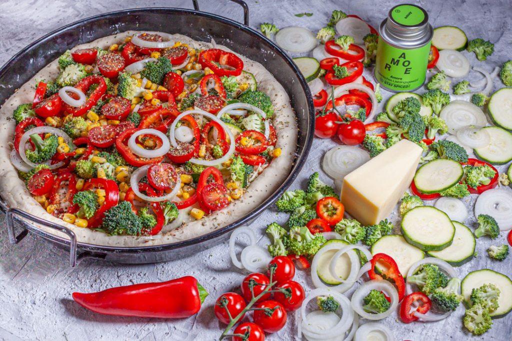 Pan Pizza belegt