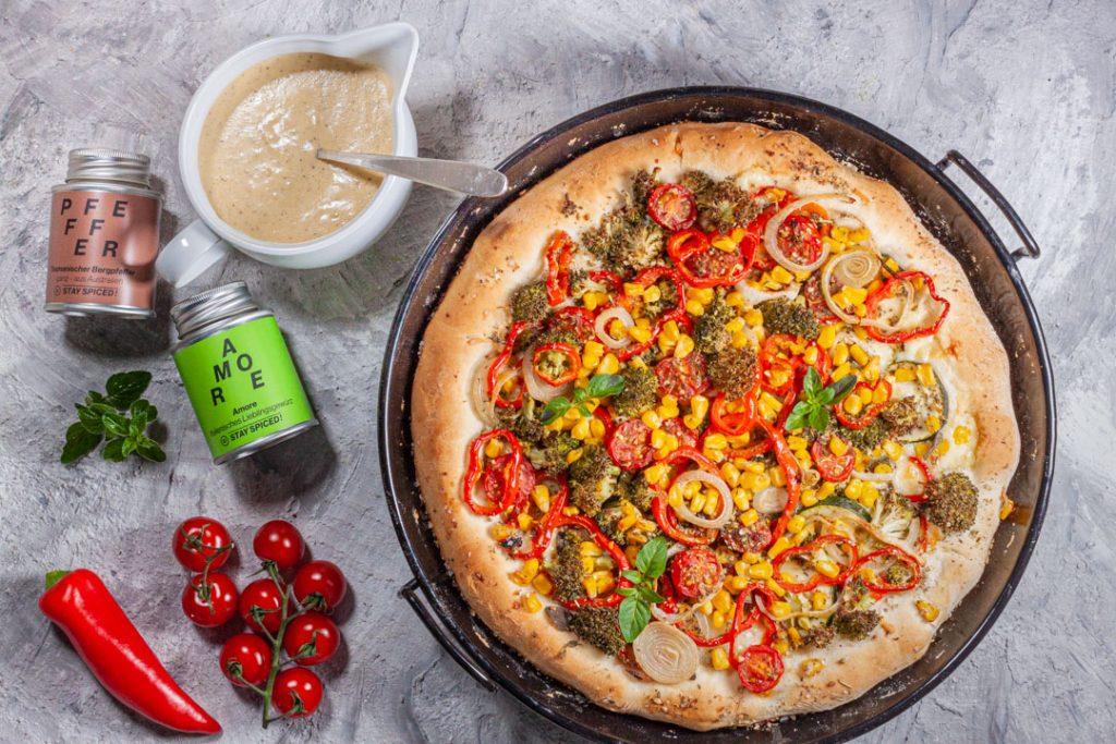Pan Pizza gebacken