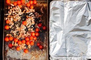 Bacon und Kirschtomaten auf der Plancha