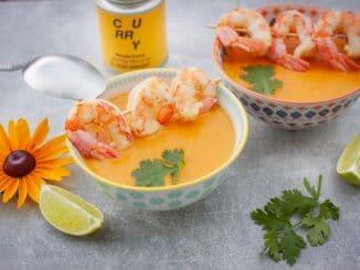 asiatische Suppe aus dem Mixer