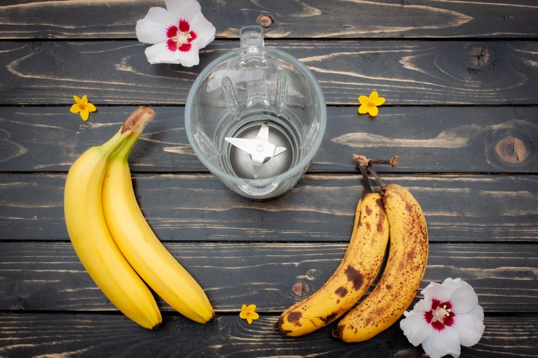Bananen mit verschiedenem Reifegrad