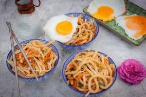 gebratene Udon vegetarisch