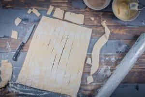 Teigstreifen für Trdelnik Baumstriezel
