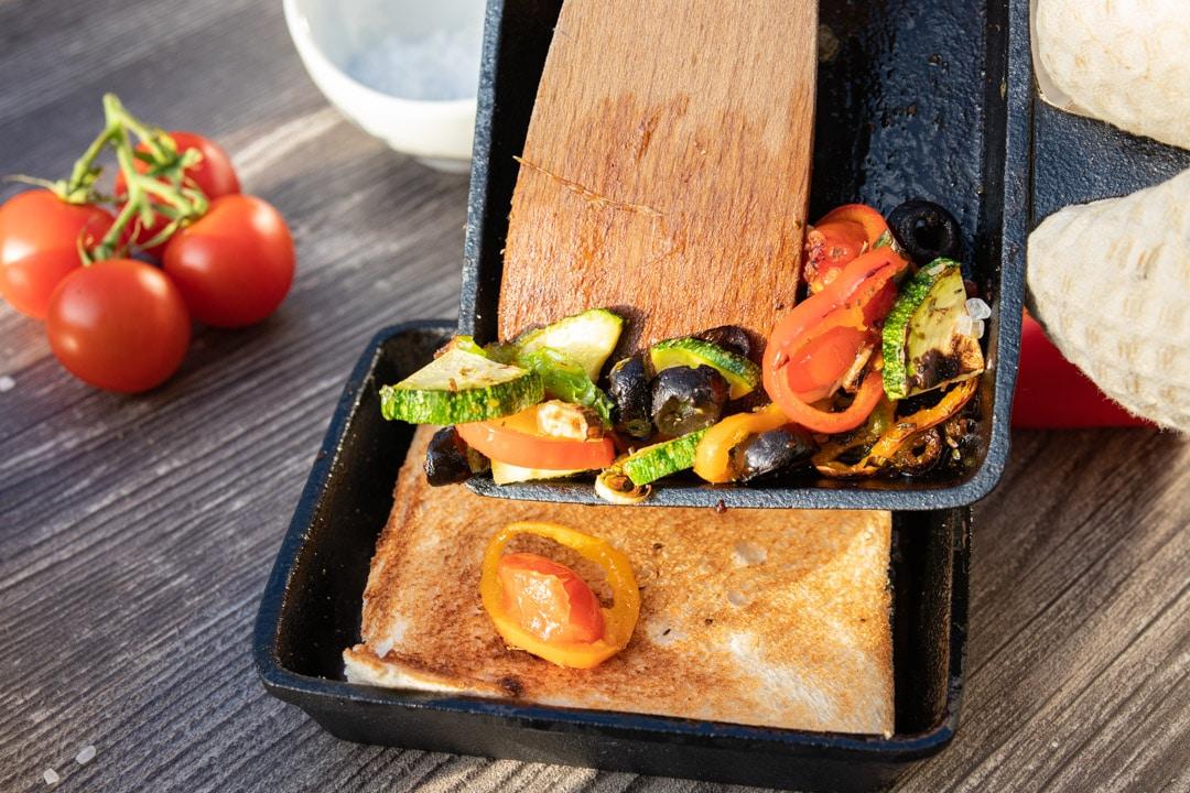 Raclette mit mediterranem Gemüse
