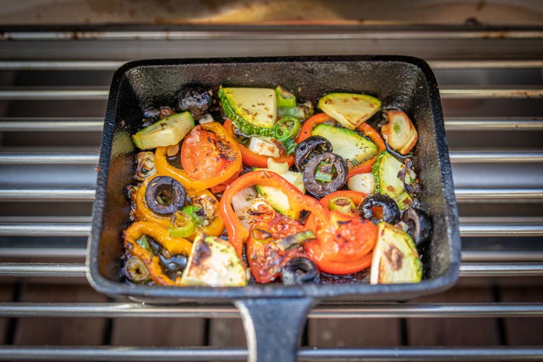 Mediterranes Raclette im Oberhitzegrill