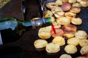 Kartoffeln mit Rotwein