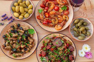 Auswahl an Tapas aus Spanien