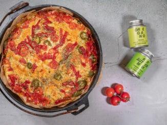 Pizzabrot aus dem Dutch Oven