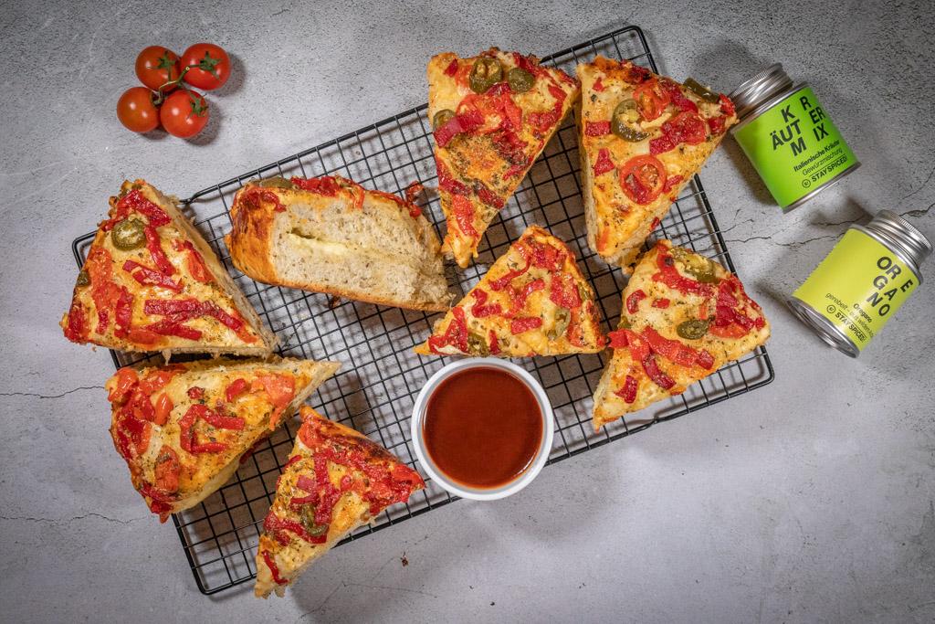 Pizzabrot mit Oregano