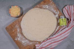 Teigfladen für das Pizzabrot