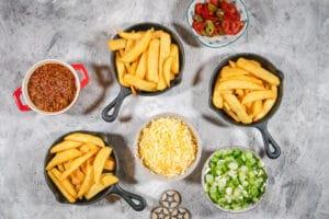 Zutaten für Chili Cheese Fries