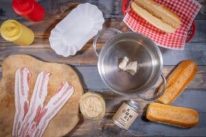 Zutaten für den New York Style Hot Dog
