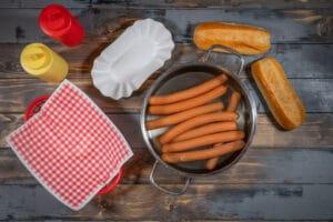 Würstchen für Hotdogs