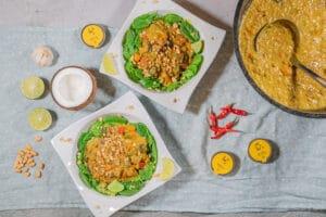 Vegetarisches Linsencurry mit Kokos aus dem Dutch Oven