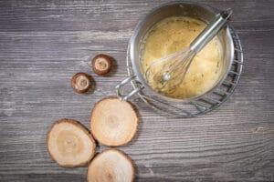 Mehlschwitze für Champignon Rahm Sauce