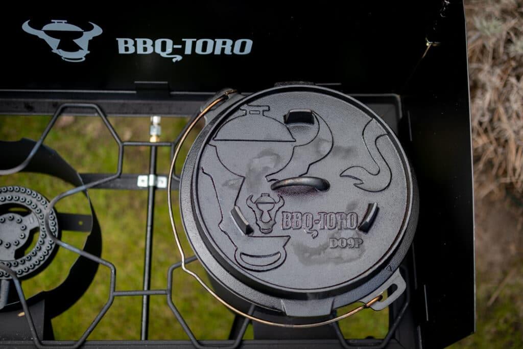 Gas Grilltisch mit Dutch Oven
